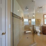 Glass walled custom shower