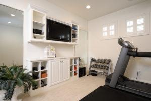 White exercise room