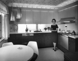 Grandma Esther in her new 60's kitchen
