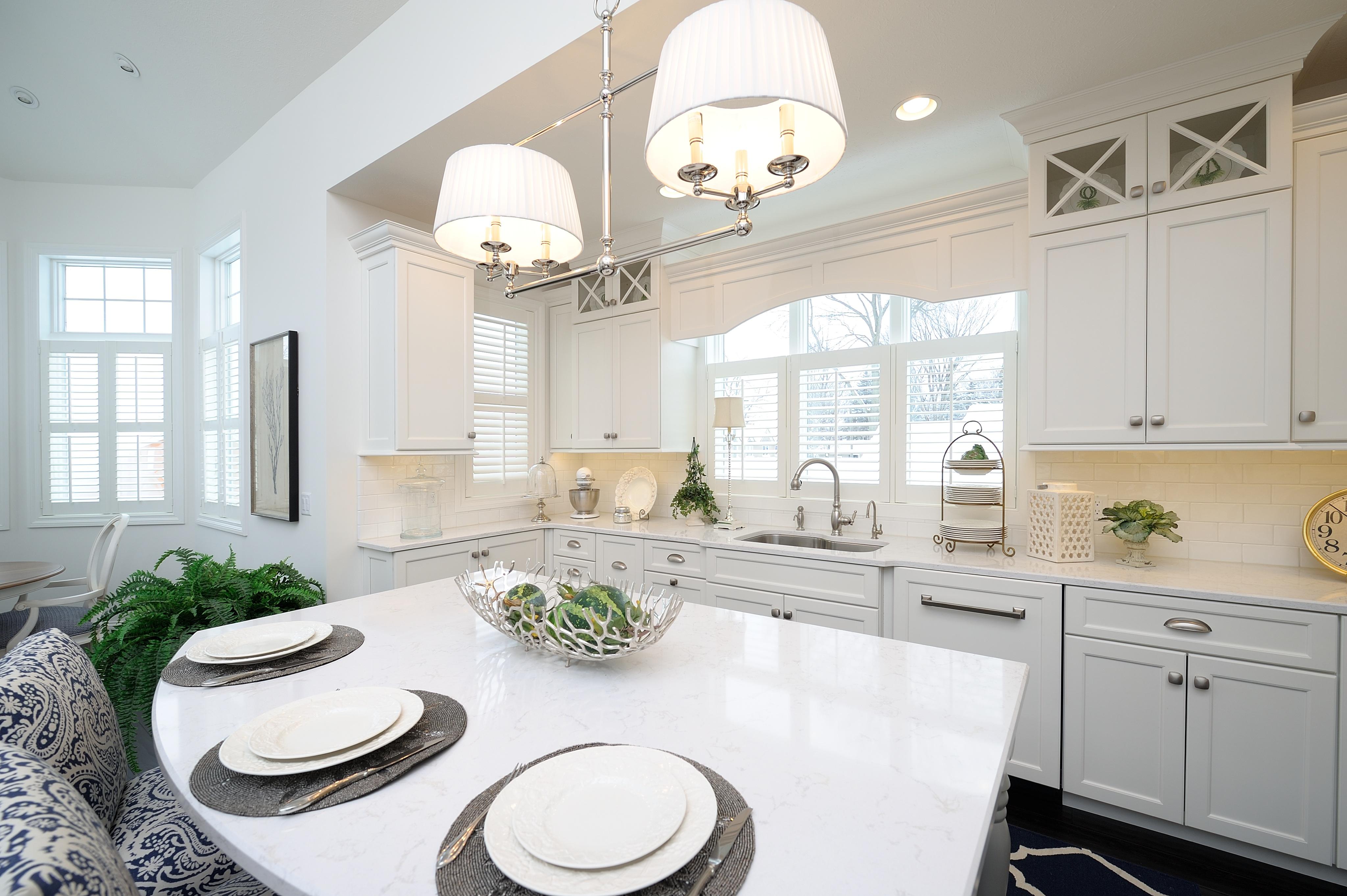 Luxury White kitchen by Kalamazoo Custom Kitchens and Baths, Kalamazoo, MI