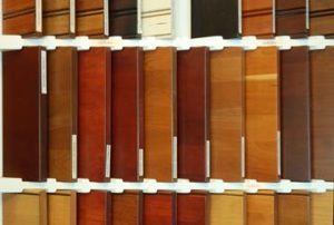 Many stained finishes on woods