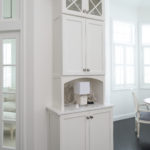 Tall white hutch & glass